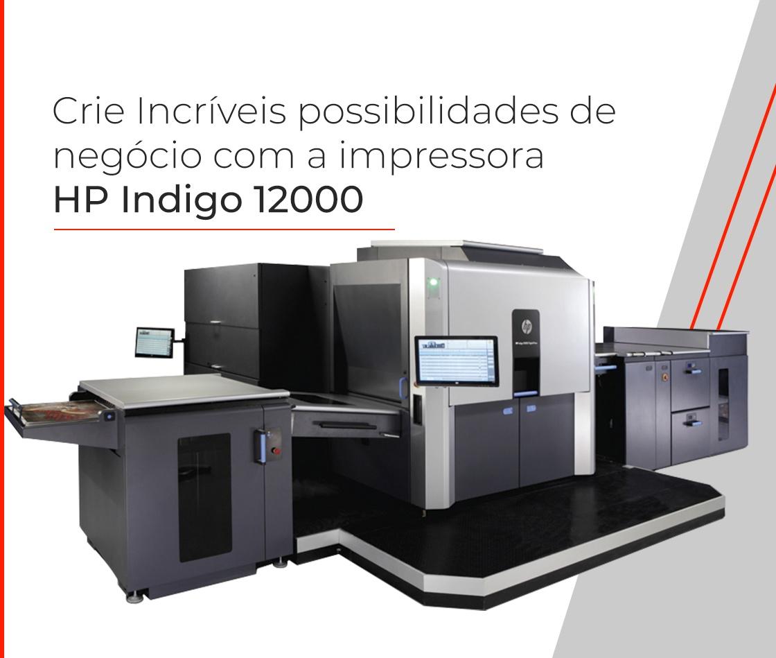 Impressora HP Indigo 12000 para cartões e papeis finos