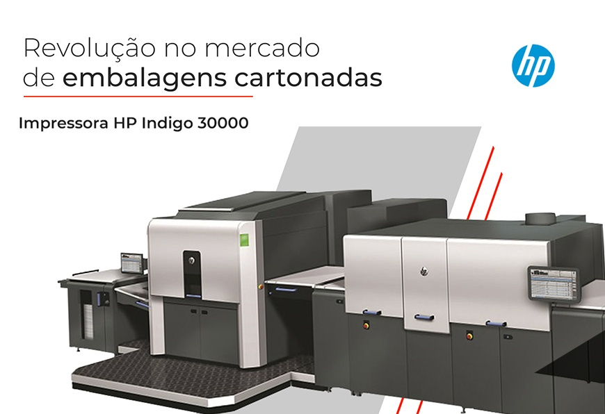 Impressora HP Indigo 30000 para Cartonagem